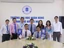 Lễ ký kết thỏa thuận hợp tác trong hoạt động Thông tin – Thư viện giữa trường ĐH Ngân hàng Tp.HCM và trường ĐH Kinh tế - Luật  thuộc Đại học Quốc gia Tp.HCM