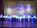 Sinh viên trường Đại học Ngân hàng TP.HCM đạt giải cao tại cuộc thi Olympic Kinh tế lượng