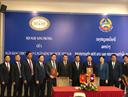 Lễ ký kết Bản ghi nhớ về hợp tác giữa Trường Đại học ngân hàng TP.HCM và Học viện Ngân hàng Lào tại Hội nghị Song phương năm 2019 giữa NHNN Việt Nam và Ngân hàng CHDCND Lào