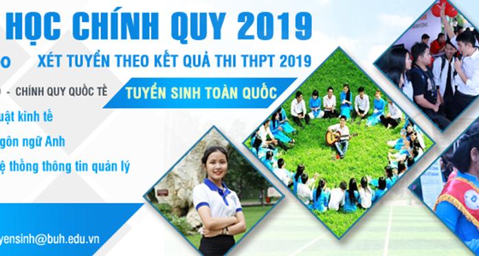 Tuyển sinh Đại học chính quy năm 2019