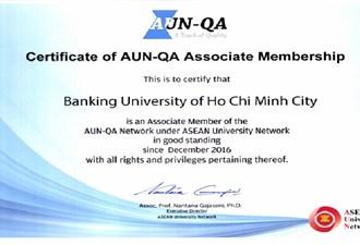 Trường Đại học ngân hàng TP. HCM trở thành thành viên liên kết của Mạng lưới đảm bảo chất lượng thuộc các trường Đại học Đông Nam Á Từ ngày 19 tháng 12 năm 2016